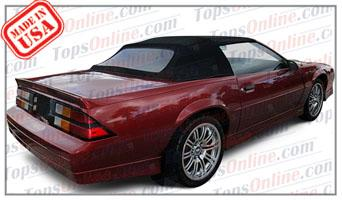 Convertible Tops & Accessories:1987 thru 1989 Chevrolet Camaro, IROC, LT, RS & Z28 (Third Gen)