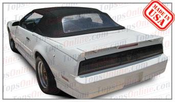 Convertible Tops & Accessories:1987 thru 1989 Pontiac Firebird & Trans Am