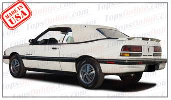 Convertible Tops & Accessories:1988 thru 1992 Pontiac Sunbird, Sunbird GT, LE & SE