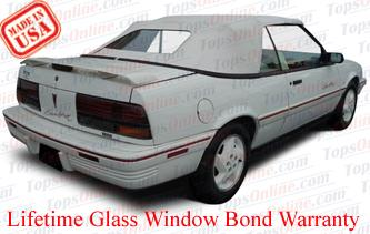 Convertible Tops & Accessories:1992 and 1993 Pontiac Sunbird & Sunbird SE