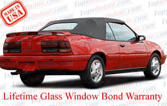 Convertible Tops & Accessories:1993 thru 1995 Pontiac Sunbird, Sunbird LE & SE