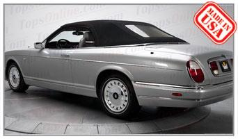 Convertible Tops & Accessories:1996 thru 2002 Rolls Royce Corniche V