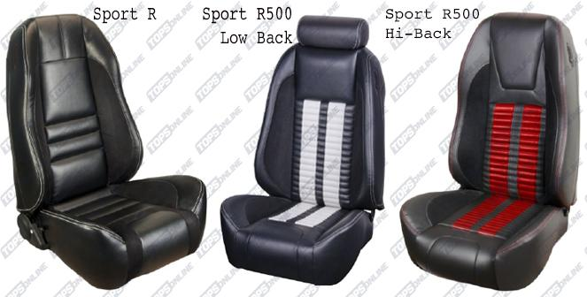 Seat Covers (Factory Style):Sport Seat Kits 1999 thru 2004 Mustang