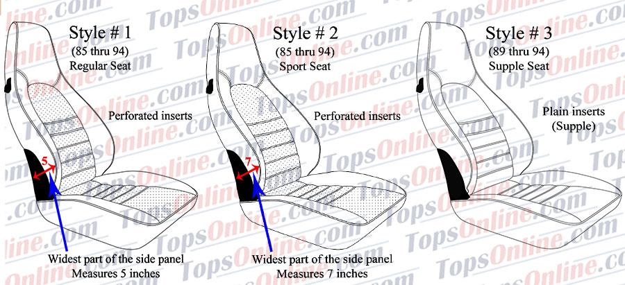 1985-1994 Porsche 911, 912, 930, 964 Carrera Upholstery Seat Covers