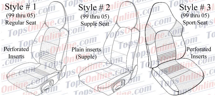 porsche 996 diagrams 1999 thru 2005 porsche 911  996    997 upholstery seat covers  1999 thru 2005 porsche 911  996    997