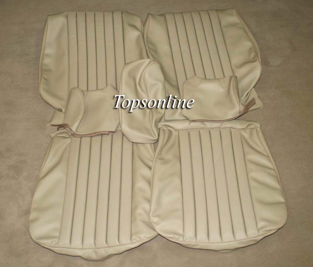 Mercedes benz w116 leather front seat covers 450 se sel for Mercedes benz original seat covers