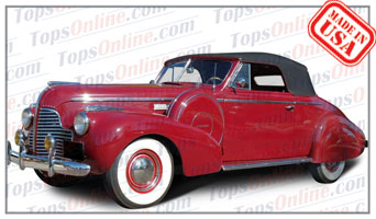 Convertible Tops & Accessories:1939 thru 1940 Buick Century 66C & Special 46C 2 Door Convertible