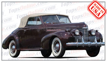 Convertible Tops & Accessories:1939 thru 1940 Oldsmobile 70 & 80 2 Door Convertible Coupe