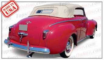 Convertible Tops & Accessories:1940 thru 1942 Chrysler Highlander & New Yorker Convertible Coupe