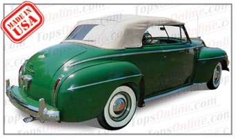 Convertible Tops & Accessories:1940 thru 1942 Desoto Convertible & Custom Convertible Coupe