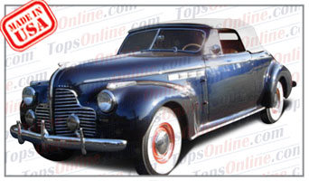 Convertible Tops & Accessories:1940 Buick Roadmaster 76C & Super 56C 2 Door Convertible
