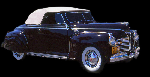 Convertible Tops & Accessories:1940 thru 1941 Plymouth Deluxe 2 Door Convertible Coupe