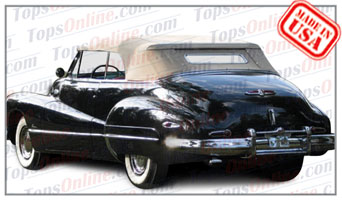 Rubber Weather Seals:1942 & 1946 thru 1948 Buick Roadmaster 76C & Super 56C Convertible