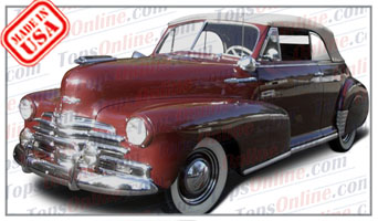Convertible Tops & Accessories:1942 & 1946 thru 1948 Chevy Fleetmaster