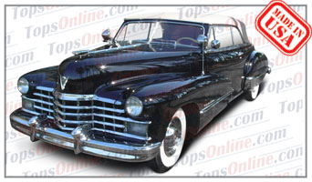 Rubber Weather Seals:1942 & 1946 thru 1947 Cadillac Series 62 Convertible