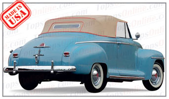 Convertible Tops & Accessories:1942 & 1946 thru 1948 Plymouth Special Deluxe Convertible Coupe