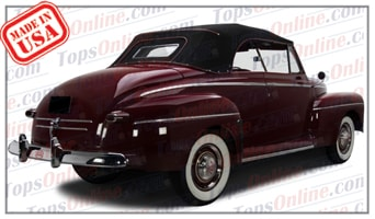 Convertible Tops & Accessories:1946 thru 1948 Ford Super Deluxe & Super Deluxe Sportsman