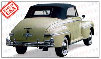 Convertible Tops & Accessories:1946 thru 1948 Mercury 69M, 76 & Sportsman Convertible (Wood)
