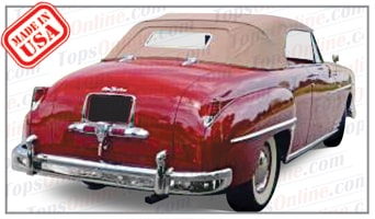 Convertible Tops & Accessories:1949 thru 1952 Desoto Custom & Firedome