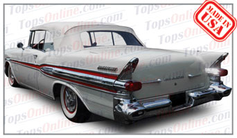 Rubber Weather Seals:1955 thru 1957 Pontiac Bonneville, Chieftain & Star Chief Convertible