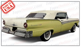 Convertible Tops & Accessories:1957 thru 1958 Ford Fairlane 500 Sunliner