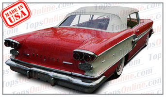 Convertible Tops & Accessories:1958 Pontiac Bonneville, Chieftain & Parisienne
