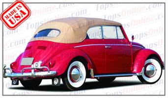 Convertible Tops & Accessories:1958 thru 1962 Volkswagen Beetle