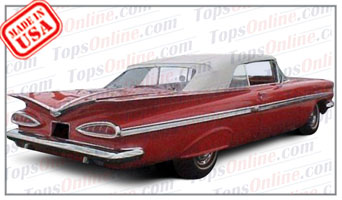 Convertible Tops & Accessories:1959 and 1960 Chevy Impala