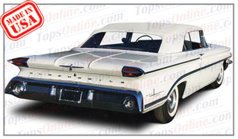 Rubber Weather Seals:1959 thru 1960 Oldsmobile Dynamic 88, Super 88 & 98 (Ninety Eight) Convertible