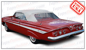 Convertible Tops & Accessories:1961 thru 1964 Chevy Impala & Impala SS