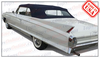 Convertible Tops & Accessories:1961 thru 1964 Cadillac Eldorado Biarritz, Deville & Series 62