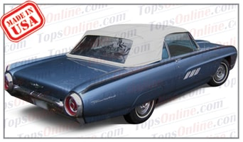 Convertible Tops & Accessories:1961 thru 1963 Ford Thunderbird & T-Bird