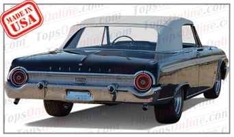 Convertible Tops & Accessories:1961 thru 1962 Ford Galaxie Sunliner, Galaxie 500 Sunliner & 500XL