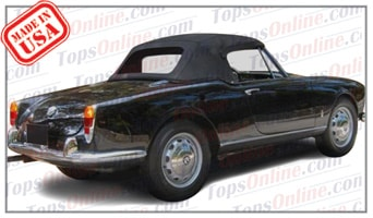 Convertible Tops & Accessories:1962 and 1963 Alfa Romeo Giulietta Spider, Super, Normale & Giulia Spider