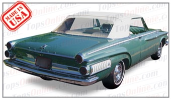 Convertible Tops & Accessories:1962 Dodge Dart & Polara (B Body)