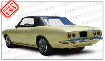 Rubber Weather Seals:1965 thru 1969 Chevy Corvair Monza & Corsa Convertible