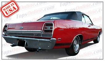 Convertible Tops & Accessories:1968 thru 1971 Ford Fairlane 500, Fairlane GT & Torino GT