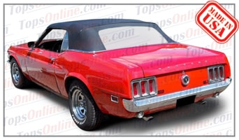 Convertible Tops & Accessories:1969 and 1970 Ford Mustang, Mustang GT & Shelby