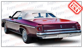 Convertible Tops & Accessories:1971 thru 1976 Oldsmobile 88, Delta 88 Royale & 98 (Ninety Eight)