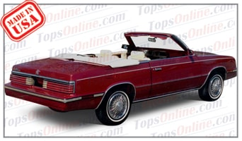 Convertible Tops & Accessories:1982 and 1983 Dodge 400 & Aries