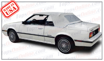 Convertible Tops & Accessories:1983 thru 1987 Chevy Cavalier, Cavalier CS & Cavalier RS