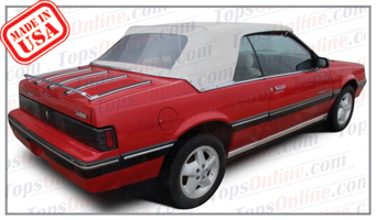 Convertible Tops & Accessories:1983 thru 1987 Pontiac Sunbird, Sunbird GT, LE & SE