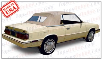 Convertible Tops & Accessories:1984 thru 1986 Chrysler Lebaron