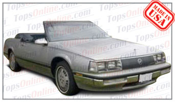 Convertible Tops & Accessories:1986 thru 1989 Buick Park Avenue  (Car Craft or H & E Conversion)