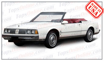 Convertible Tops & Accessories:1986 thru 1989 Oldsmobile 98 (Car Craft or H & E Conversion)