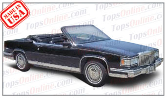 Convertible Tops & Accessories:1986 thru 1988 Cadillac Coupe Deville (Car Craft or H & E Conversion)