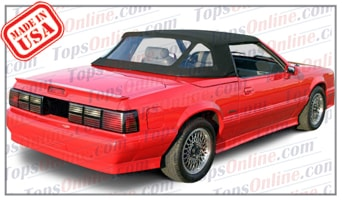 Convertible Tops & Accessories:1987 thru 1988 Ford Mustang McLaren (ASC Conversion)