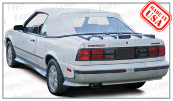 Convertible Tops & Accessories:1988 thru 1992 Chevy Cavalier, Cavalier RS & Cavalier Z24