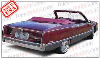 Convertible Tops & Accessories:1988 and 1989 Cadillac Deville Fleetwood (Car Craft or H & E Conversion)