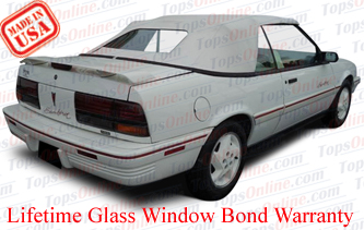 Convertible Tops & Accessories:1992 thru 1993 Pontiac Sunbird & Sunbird SE
